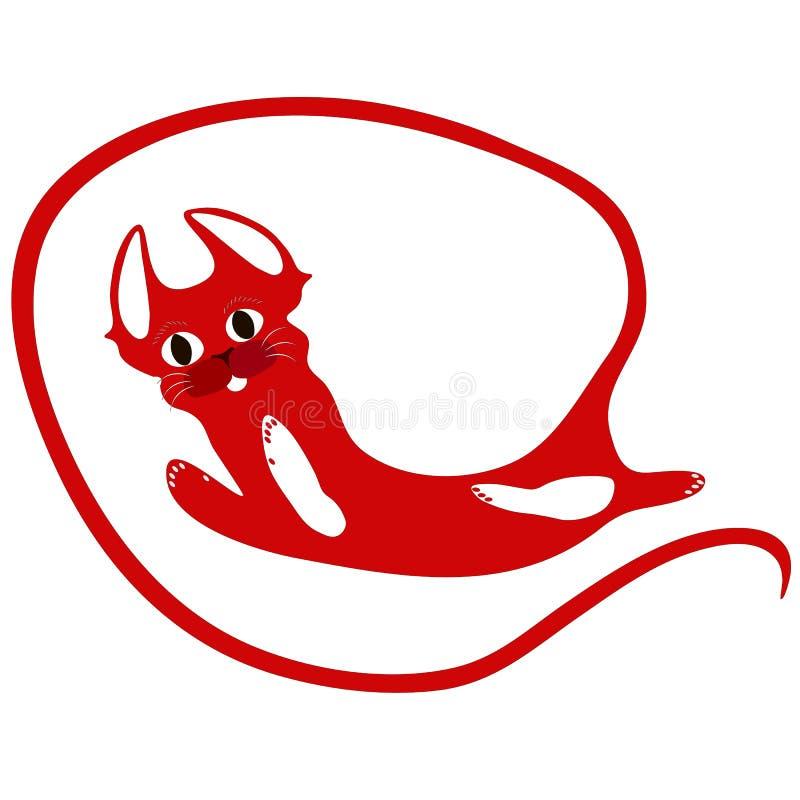 Κόκκινη αφηρημένη μακριά ουρά γατών στοκ φωτογραφία