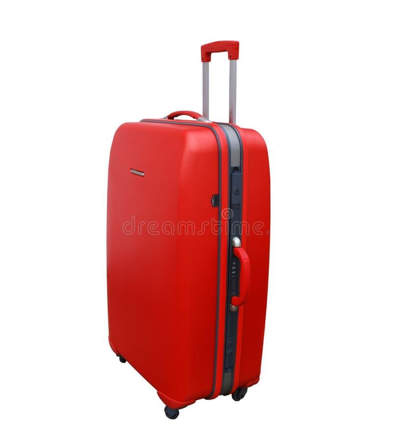 κόκκινη βαλίτσα στοκ εικόνες με δικαίωμα ελεύθερης χρήσης