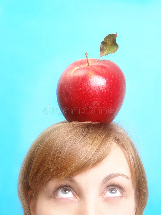 Download κόκκινη γυναίκα μήλων στοκ εικόνες. εικόνα από διατροφή - 1540364