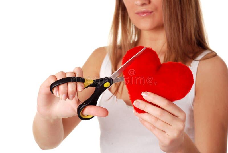 κόκκινη γυναίκα ψαλιδιού στοκ εικόνα με δικαίωμα ελεύθερης χρήσης