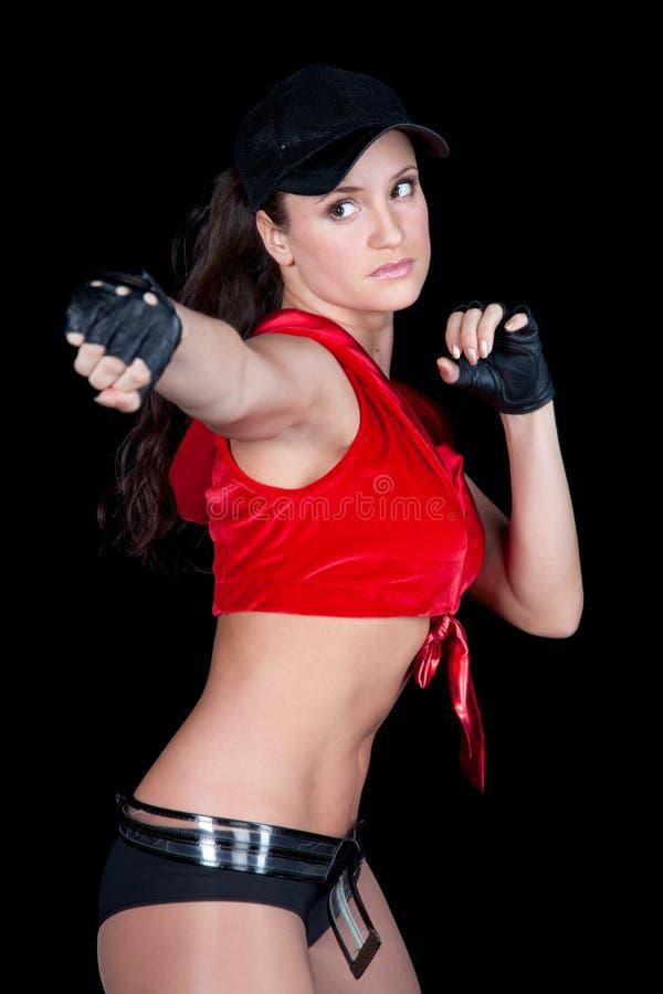 κόκκινη γυναίκα στοκ εικόνες με δικαίωμα ελεύθερης χρήσης
