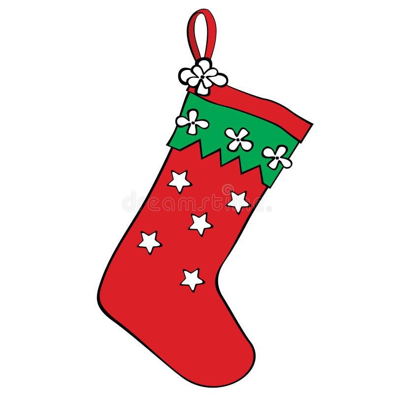 κόκκινη γυναικεία κάλτσ&alph απεικόνιση αποθεμάτων