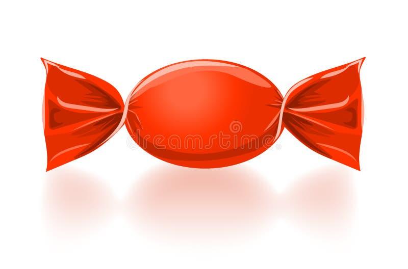 Κόκκινη γλυκιά διανυσματική απεικόνιση καραμελών ελεύθερη απεικόνιση δικαιώματος