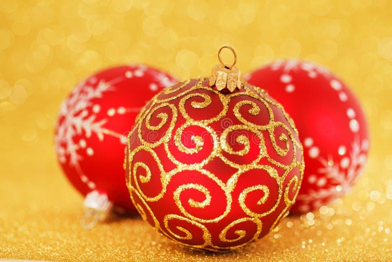 Κόκκινη διακόσμηση Χριστουγέννων στοκ φωτογραφία