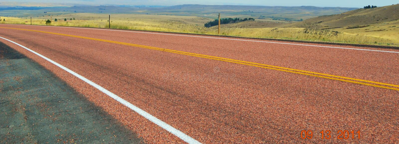 Κόκκινη εθνική οδός στοκ εικόνα