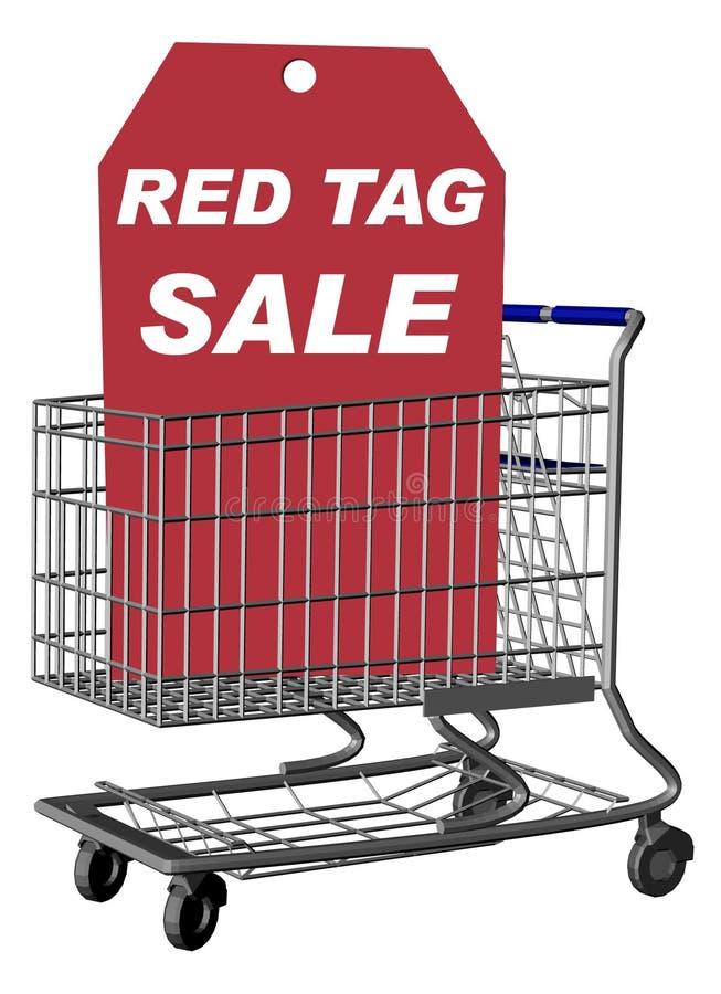 κόκκινη ετικέττα πώλησης διανυσματική απεικόνιση