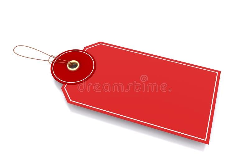 κόκκινη ετικέττα ελεύθερη απεικόνιση δικαιώματος