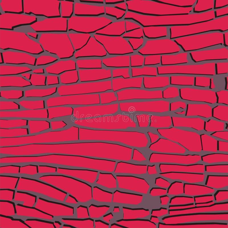 Κόκκινη διανυσματική απεικόνιση υποβάθρου τούβλων διανυσματική απεικόνιση