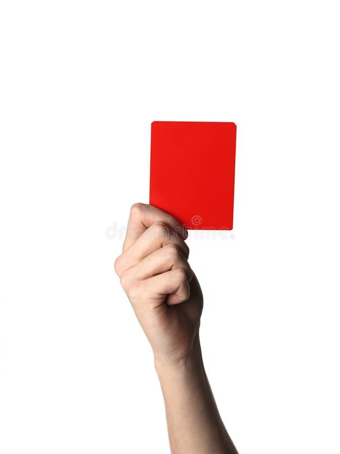 Κόκκινη κάρτα στοκ εικόνα με δικαίωμα ελεύθερης χρήσης