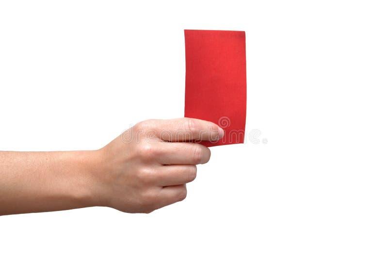 Κόκκινη κάρτα στοκ φωτογραφία με δικαίωμα ελεύθερης χρήσης