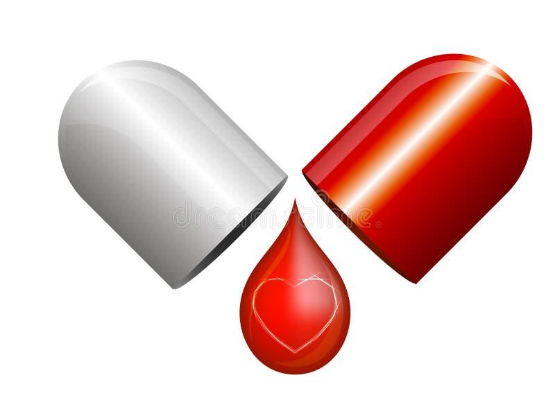 Κόκκινη κάψα αγάπης απεικόνιση αποθεμάτων