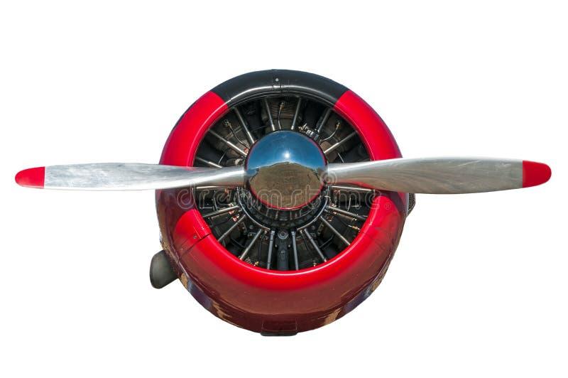 Κόκκινη και μαύρη AT-6 τεξανή μηχανή και προωστήρας στοκ εικόνα με δικαίωμα ελεύθερης χρήσης