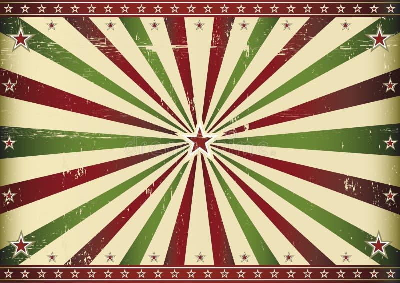 Κόκκινη και πράσινη αναδρομική ηλιαχτίδα διανυσματική απεικόνιση