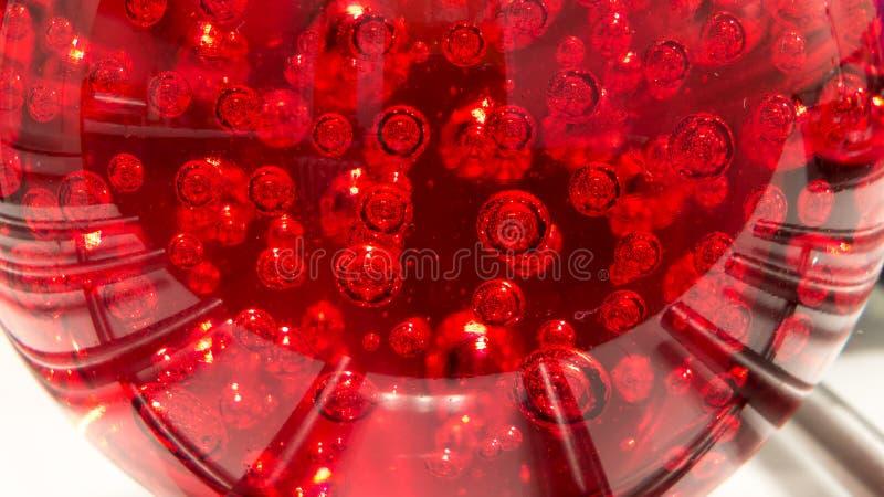 Κόκκινη κακοήθης έννοια ιών κινδύνου στοκ φωτογραφία με δικαίωμα ελεύθερης χρήσης