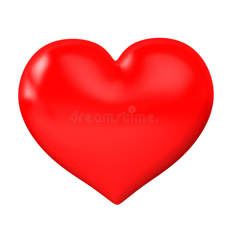 Κόκκινη καρδιά σε ένα άσπρο υπόβαθρο στοκ εικόνα