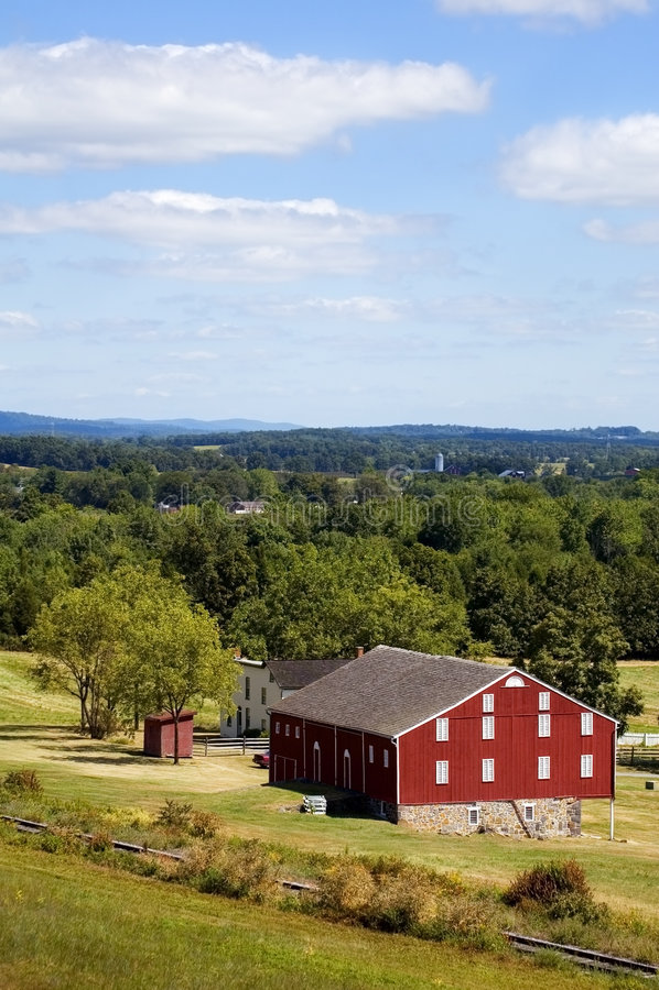 Download κόκκινη κατακόρυφος της Πενσυλβανίας σιταποθηκών Gettysburg Στοκ Εικόνα - εικόνα από γεωργίας, κόκκινος: 1545315