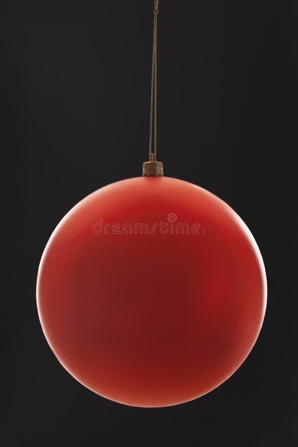 Κόκκινη κινηματογράφηση σε πρώτο πλάνο μπιχλιμπιδιών Χριστουγέννων στοκ φωτογραφίες με δικαίωμα ελεύθερης χρήσης