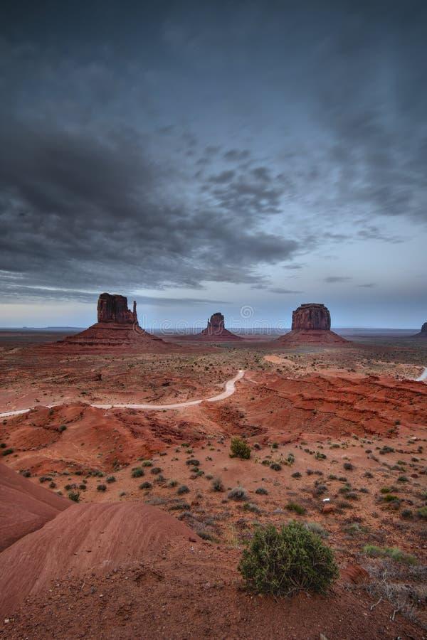Κόκκινη κοιλάδα μνημείων ερήμων, Αριζόνα, Utha στοκ φωτογραφίες με δικαίωμα ελεύθερης χρήσης