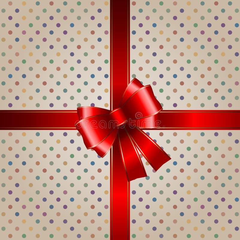 κόκκινη κορδέλλα δώρων αν&al ελεύθερη απεικόνιση δικαιώματος
