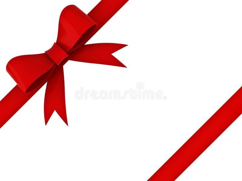 κόκκινη κορδέλλα δώρων τόξ&ome ελεύθερη απεικόνιση δικαιώματος