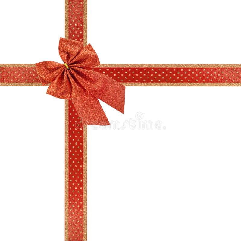 κόκκινη κορδέλλα Χριστο&u στοκ φωτογραφία με δικαίωμα ελεύθερης χρήσης