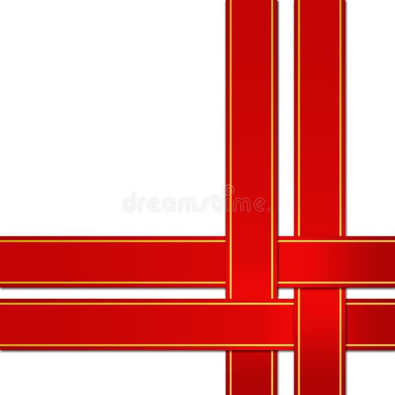 κόκκινη κορδέλλα διανυσματική απεικόνιση
