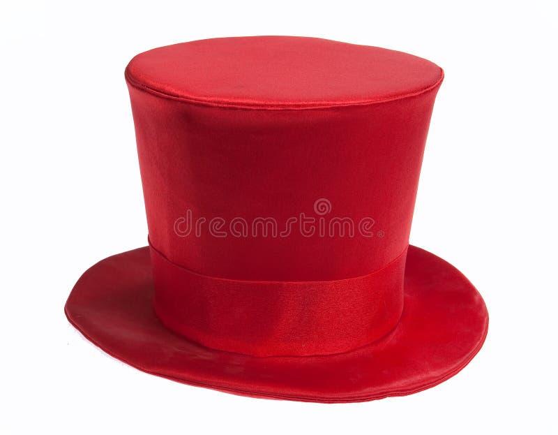 κόκκινη κορυφή καπέλων στοκ εικόνες