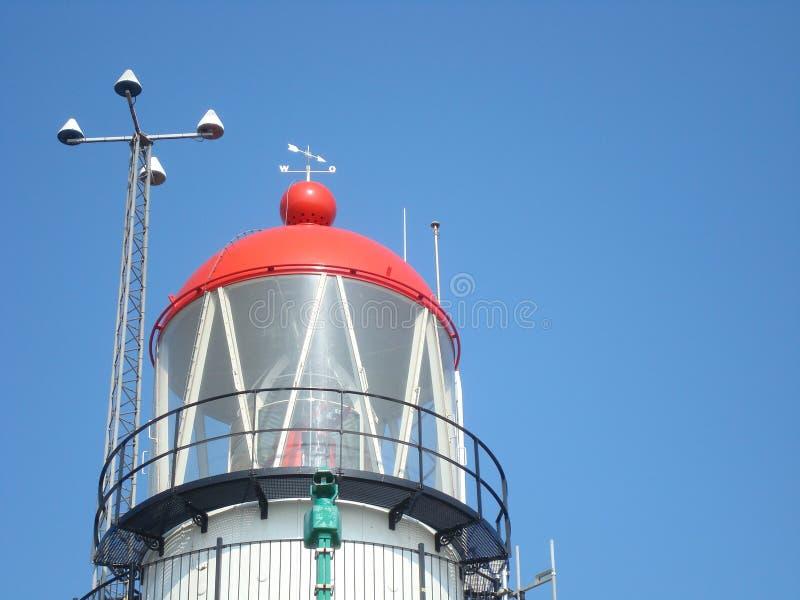 Κόκκινη κορυφή του φάρου στοκ φωτογραφίες με δικαίωμα ελεύθερης χρήσης