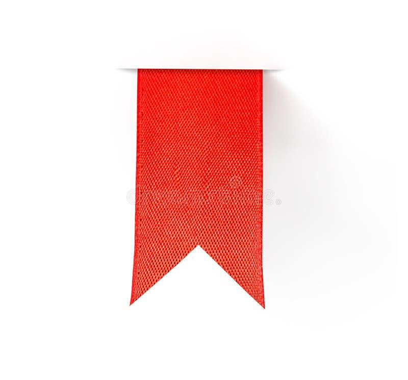 Κόκκινη κορδέλλα σελιδοδεικτών στοκ εικόνες