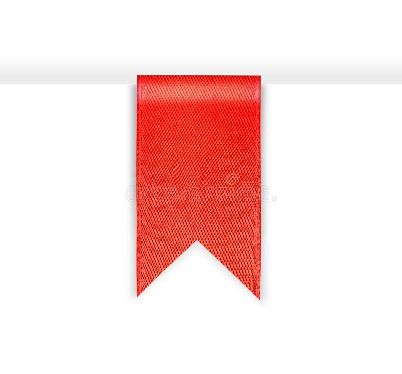 Κόκκινη κορδέλλα σελιδοδεικτών στοκ φωτογραφίες