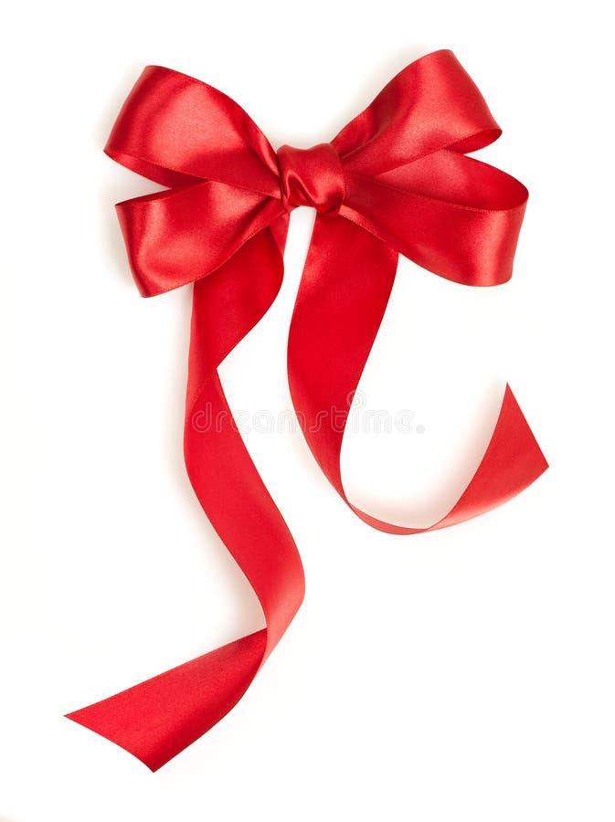 Κόκκινη κορδέλλα δώρων στοκ φωτογραφία με δικαίωμα ελεύθερης χρήσης