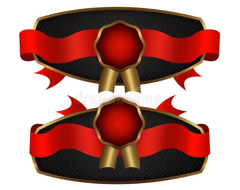 κόκκινη κορδέλλα απεικόνιση αποθεμάτων