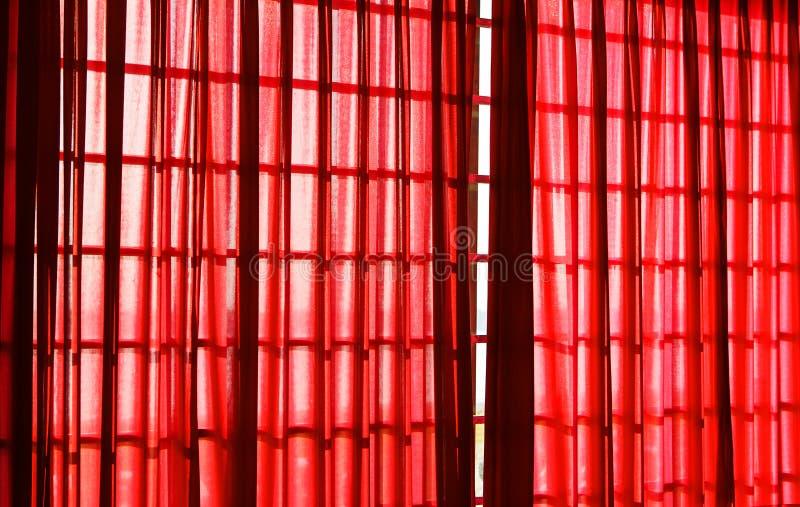 Κόκκινη κουρτίνα στοκ εικόνες με δικαίωμα ελεύθερης χρήσης