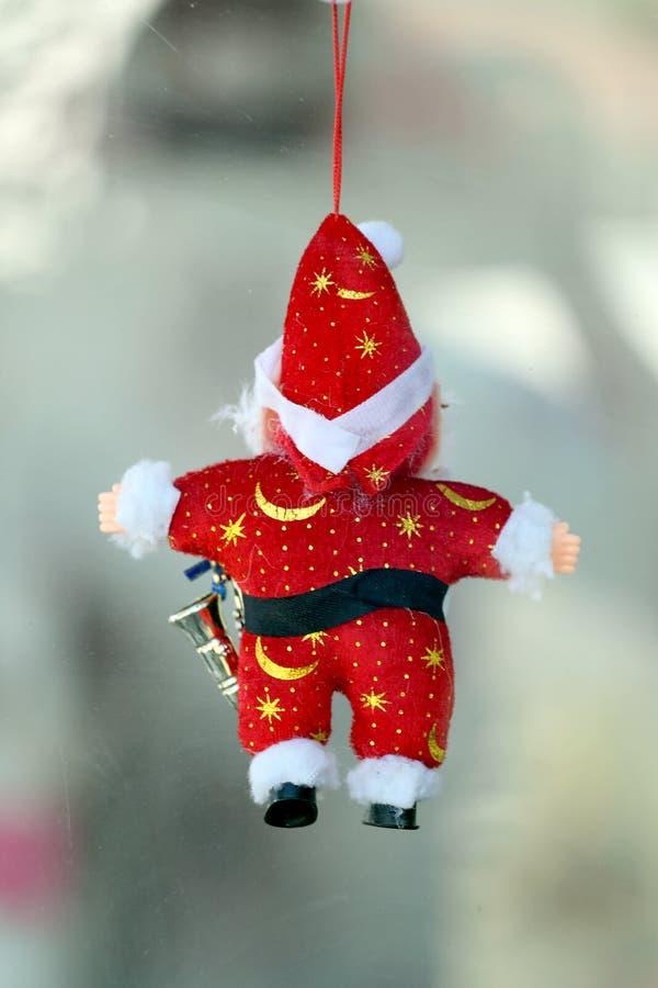 Κόκκινη κούκλα Santa στοκ εικόνες
