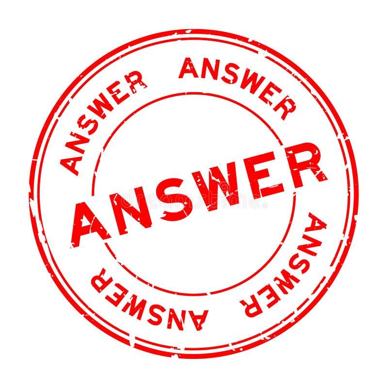 Κόκκινη λέξη απάντησης Grunge γύρω από τη σφραγίδα στο άσπρο υπόβαθρο απεικόνιση αποθεμάτων