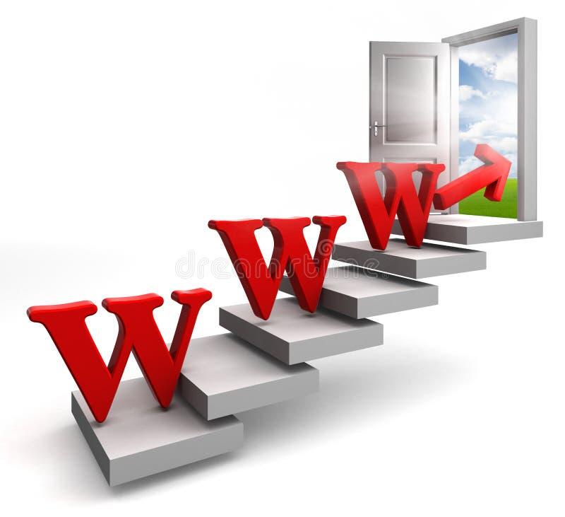 Download κόκκινη λέξη σκαλοπατιών βελών Www Απεικόνιση αποθεμάτων - εικονογραφία από τοπίο, πραγματικός: 22790092