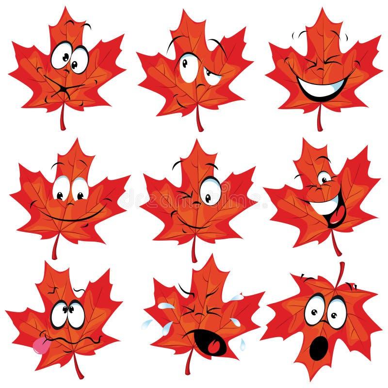 Κόκκινη μασκότ φύλλων σφενδάμου απεικόνιση αποθεμάτων