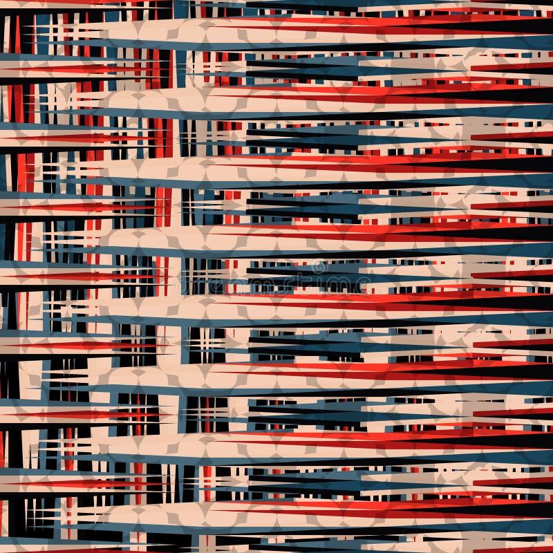 Κόκκινη μαύρη και μπλε απεικόνιση υποβάθρου γραμμών όμορφη γεωμετρική διανυσματική απεικόνιση