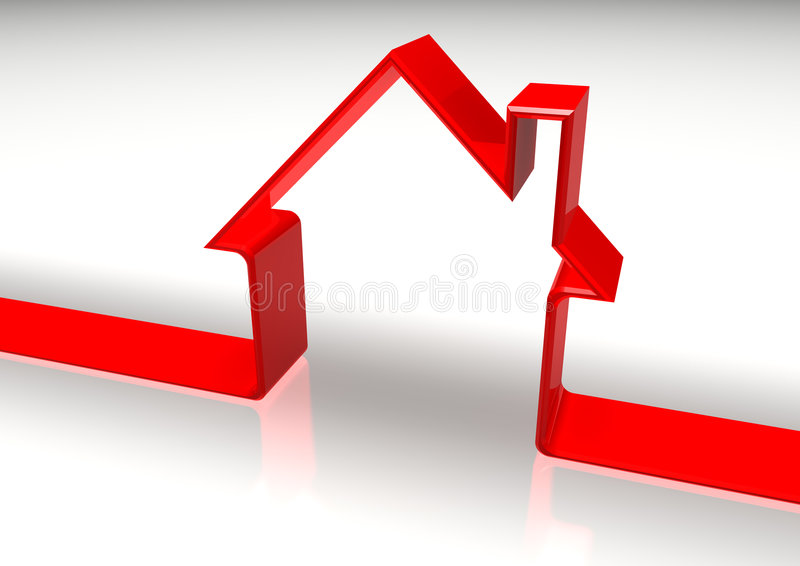 κόκκινη μορφή σπιτιών διανυσματική απεικόνιση