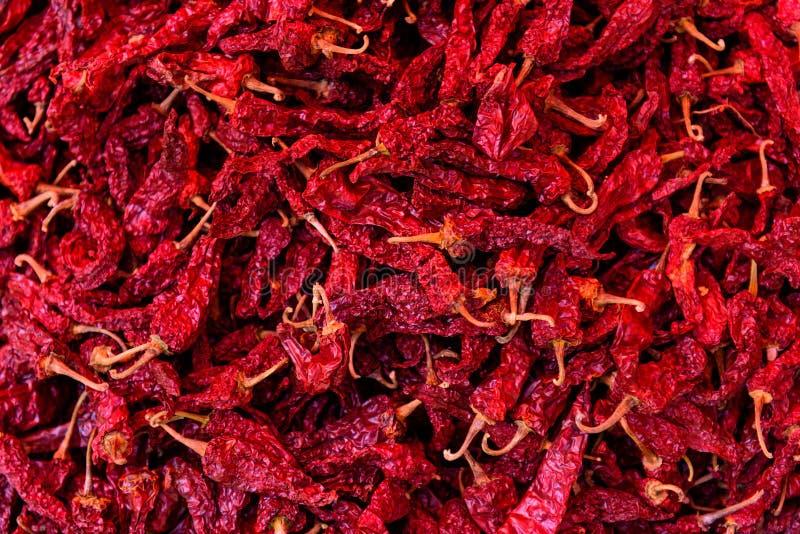 Κόκκινη ξηρά ομάδα τσίλι Ανασκόπηση και σύσταση στοκ φωτογραφία με δικαίωμα ελεύθερης χρήσης