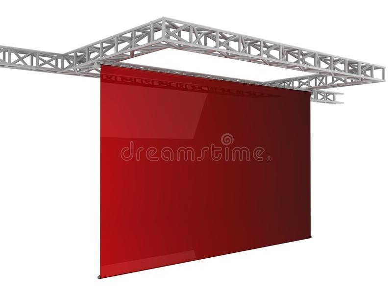 Download κόκκινη οθόνη απεικόνιση αποθεμάτων. εικονογραφία από απομονωμένος - 13182177