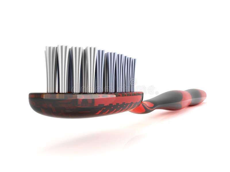 κόκκινη οδοντόβουρτσα διανυσματική απεικόνιση