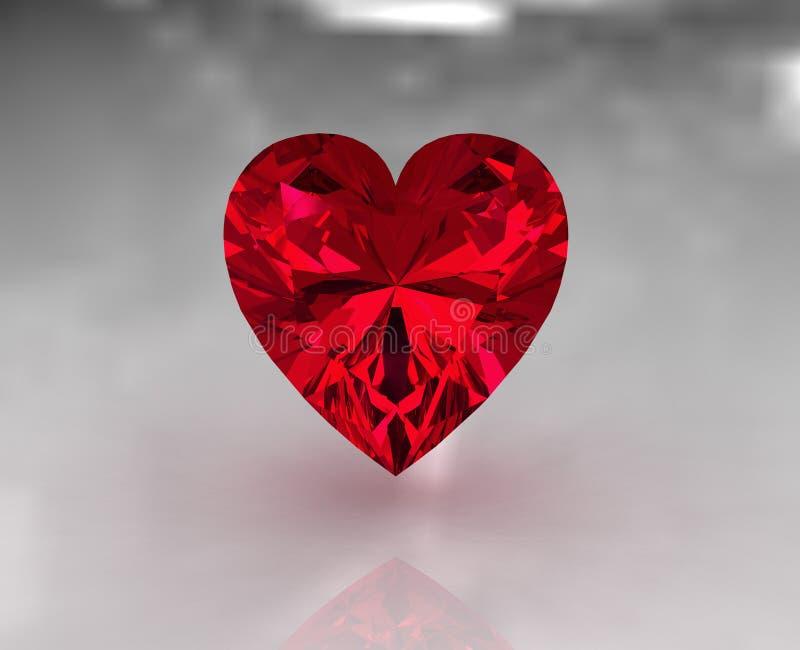 κόκκινη πέτρα μορφής καρδιώ&nu ελεύθερη απεικόνιση δικαιώματος