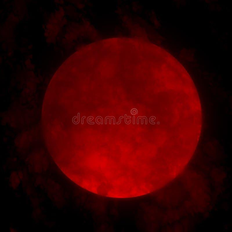 Κόκκινη πανσέληνος απεικόνιση αποθεμάτων