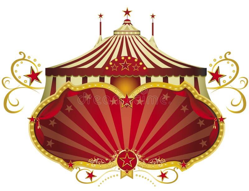 Κόκκινη πινακίδα τσίρκων ελεύθερη απεικόνιση δικαιώματος