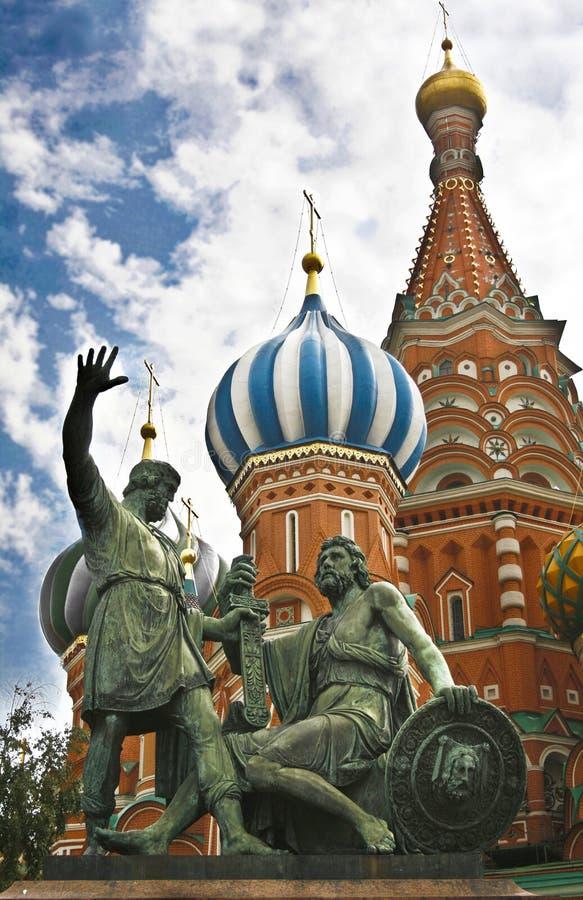 Κόκκινη πλατεία Μόσχα, καθεδρικός ναός του βασιλικού Αγίου στοκ φωτογραφία με δικαίωμα ελεύθερης χρήσης