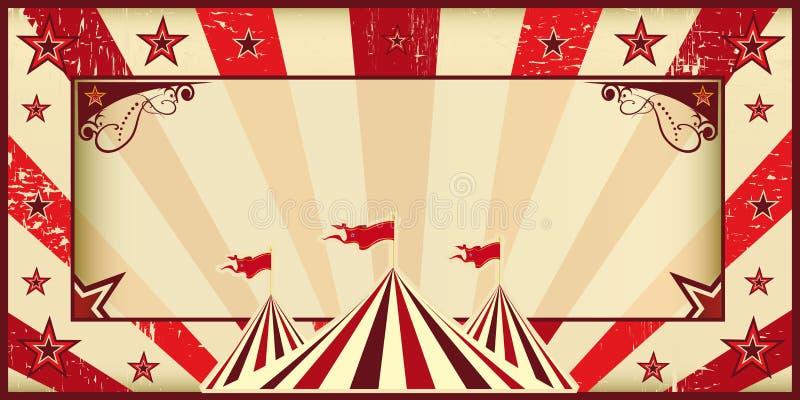 Κόκκινη πρόσκληση τσίρκων απεικόνιση αποθεμάτων