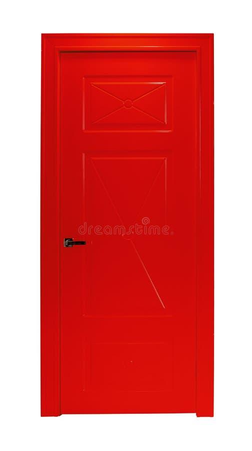 Κόκκινη πόρτα δωματίων που απομονώνεται στοκ εικόνα με δικαίωμα ελεύθερης χρήσης