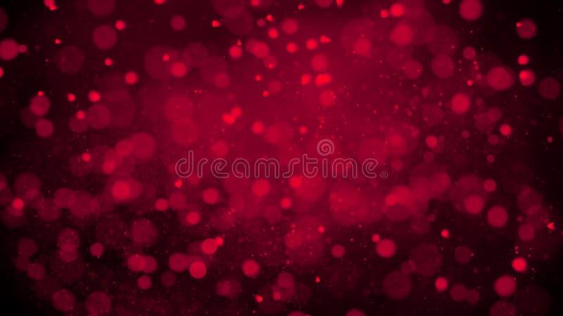 Κόκκινη ρομαντική αγάπη Bokeh για τις επικαλύψεις σύστασης υποβάθρου Μαγικός ακτινοβολήστε : στοκ εικόνα