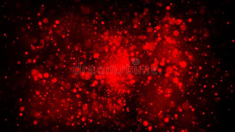 Κόκκινη ρομαντική αγάπη Bokeh για τις επικαλύψεις σύστασης υποβάθρου Μαγικός ακτινοβολήστε : στοκ εικόνα με δικαίωμα ελεύθερης χρήσης